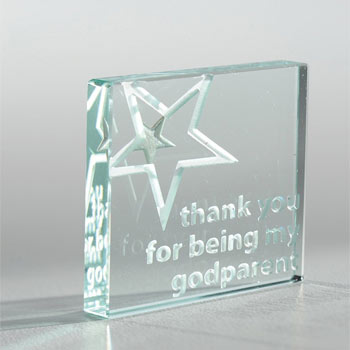 Godparent Thank You Token With Free Spaceform Gift Bag