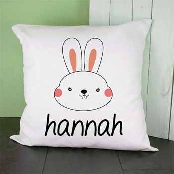 Personalised Little Bunny Cushion Cover