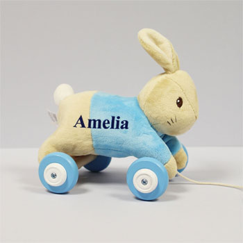 Toddler's Peter Rabbit Personalised Pull Along Toy