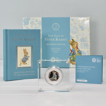 Peter Rabbit Royal Mint Silver Proof 50p Coin & Book Set