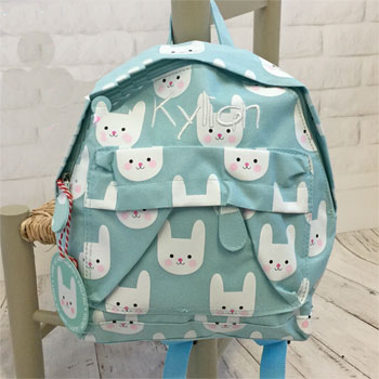 Personalised Bunny Backpack School Nursery Bag