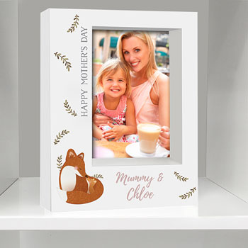 Personalised Mummy and Me Fox 5x7 Inch Box Photo Frame