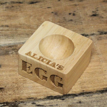 Engraved Wooden Egg Holder