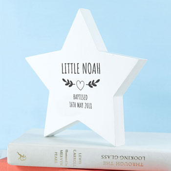 Personalised Wooden Star Wreath Keepsake
