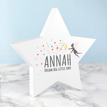 Personalised Dream Big Wooden Star  Keepsake
