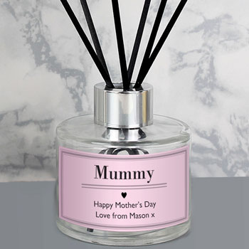 Ladies Personalised Classic Pink Reed Diffuser Gift