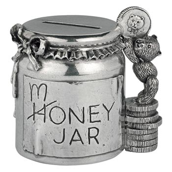 Pewter Teddy Bears Picnic Money Jar by Royal Selangor