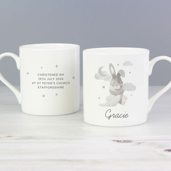 Personalised Baby Bunny China Balmoral Keepsake Mug