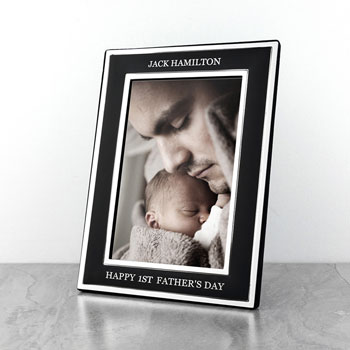 Personalised Silver Plated Fathers Day Frame
