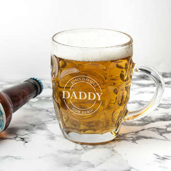 Personalised Dimpled Pint Beer Glass