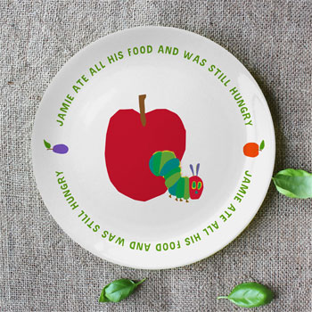 Very Hungry Caterpillar Still Hungry Bespoke China Plate