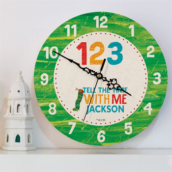 Very Hungry Caterpillar Tell The Time Personalised Clock