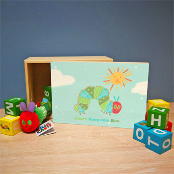 Very Hungry Caterpillar Personalised Wooden Keepsake Box