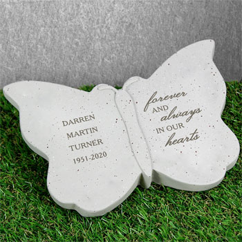 Personalised Forever and Always Memorial Butterfly Ornament