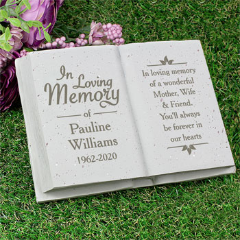 Personalised In Loving Memory Memorial Book Ornament