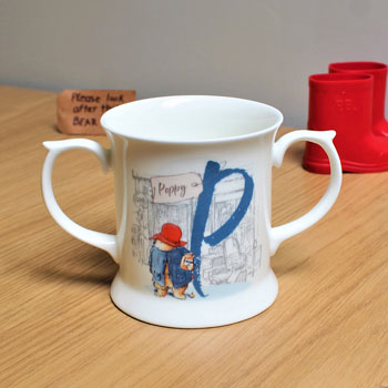 Personalised Paddington Bear Initial Bone China Loving Cup