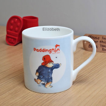 Personalised Paddington Bear Balmoral Childrens China Mug