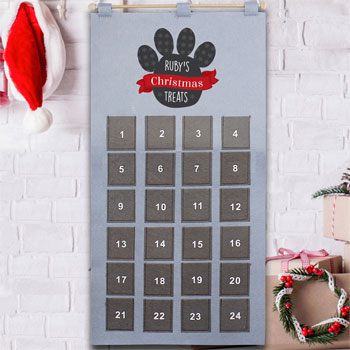 Personalised Pet Fabric Pocket Advent Calendar Dog Cat