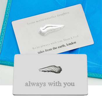 Engraved Steel Always With You Secret Message Plaque