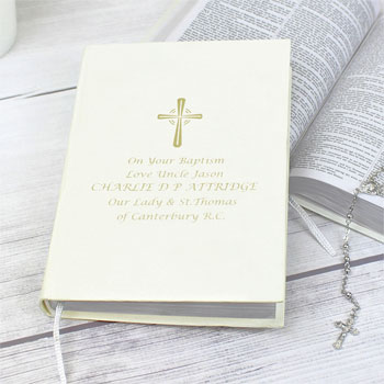 Personalised Gold Companion Holy Bible Eco Friendly