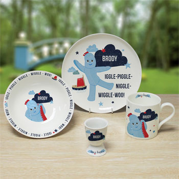 Toddler's Personalised China Igglepiggle Breakfast Set