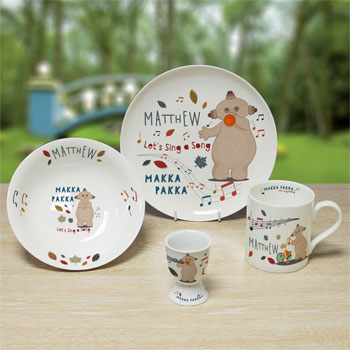 Personalised Musical Makka Pakka Bone China Breakfast Set