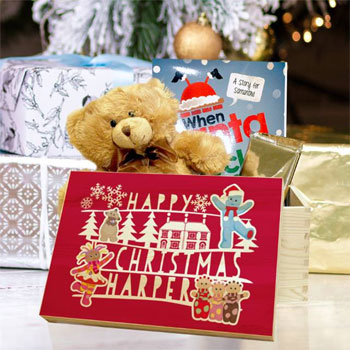 Personalised In The Night Garden Kid's Red Christmas Eve Box