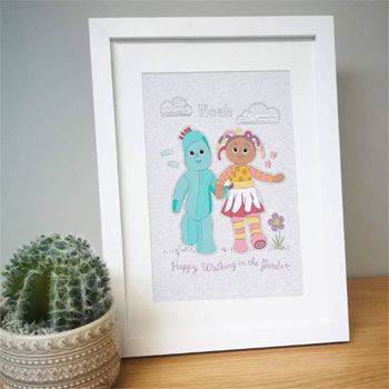Personalised In The Night Garden Happy Walking Framed Print