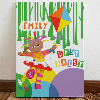 Girl's Personalised Upsy Daisy Kite Name Canvas