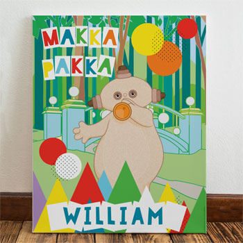 Kid's Personalised In The Night Garden Makka Pakka Canvas