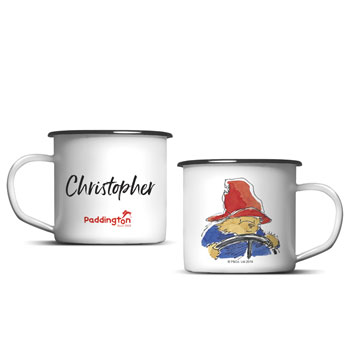 Personalised Paddington Bear Enamel Children's Mug