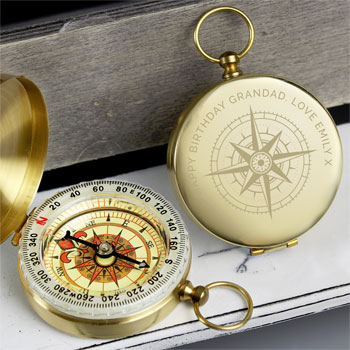 Personalised Engraved Keepsake Compass