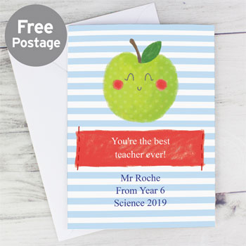Personalised Apple for the Teacher Appreciation Card