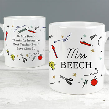 Personalised School Themed Ceramic Teacher's Mug