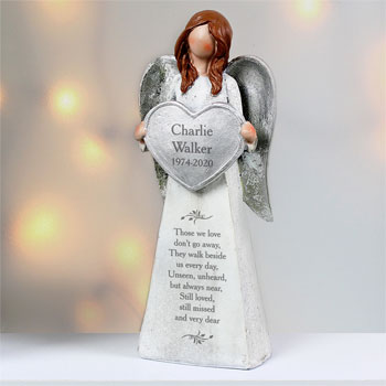 Personalised Memorial Angel Keepsake Ornament