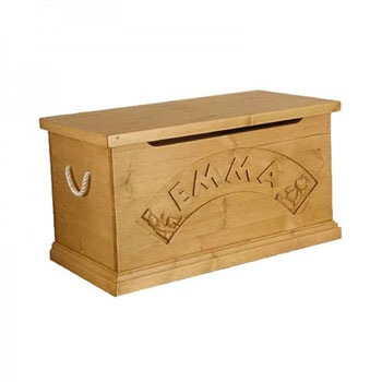 Traditional Solid Pine Luxury Personalised Toy Box Chest
