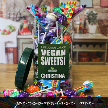 Personalised Jar of Vegan Sweets Children's Gift