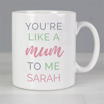 Personalised Like a Mum to Me Stepmum, Guardian, Sponsor Mug