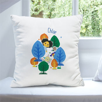 Personalised Moon and Me Forest Cushion Toddler Gift