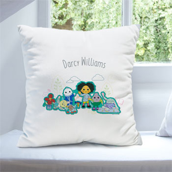 Personalised Moon and Me White Cushion For Baby or Toddler