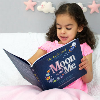 Personalised Moon & Me Book Baby or Toddler's Story Book