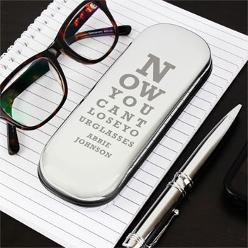 Personalised Eye Exam Glasses Case Grandparent Gift