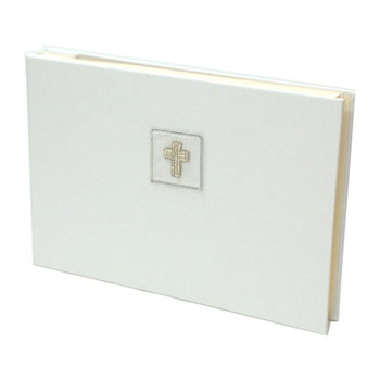 Beaded Silver Cross Photo Album