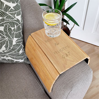 Personalised Wooden Sofa Tray Any Text