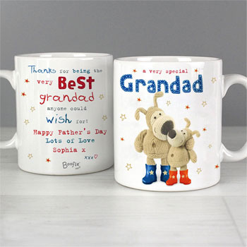 Personalised Boofle Special Grandad Gift China Mug