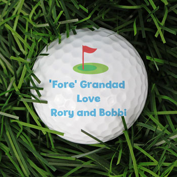 Personalised Flag Golf Ball Golfer's Gift Idea