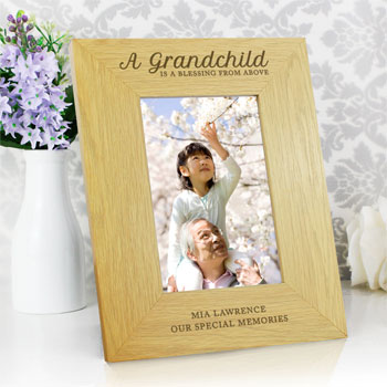 Personalised A Grandchild Is A Blessing 6x4 Inch Frame