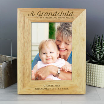 Personalised A Grandchild Is A Blessing 5x7 Inch Frame