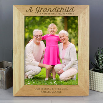 Personalised A Grandchild Is A Blessing 10x8 Inch Frame