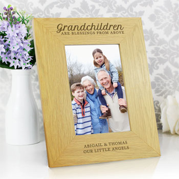 Personalised Grandchildren Are Blessings 6x4 Inch Frame